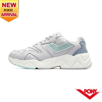 【PONY】MODERN 2 電光鞋 復古慢跑鞋 女鞋-灰藍