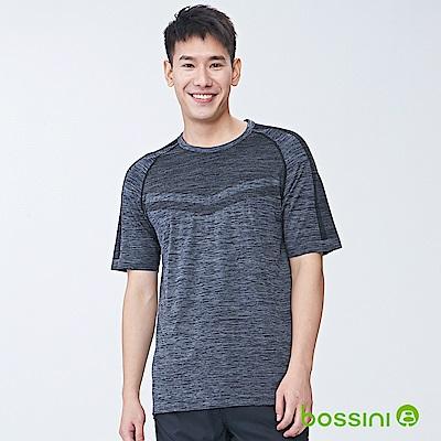 bossini男裝-無縫快乾TEE01黑