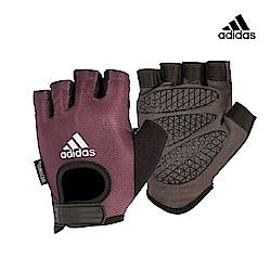 Adidas  Training 女用彈性半指手套-薄霧紫