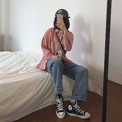 韓國空運 造型直筒牛仔褲-TMH