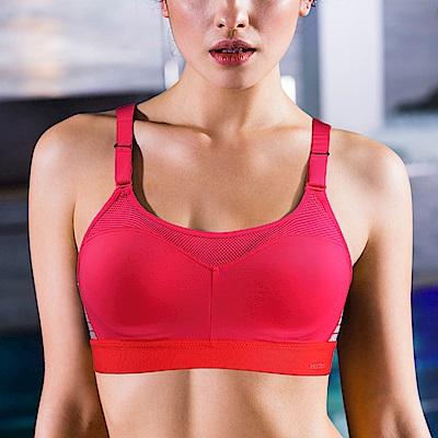 黛安芬-Triaction Cardio高效動能運動內衣 B-D罩杯 溫柔桃紅