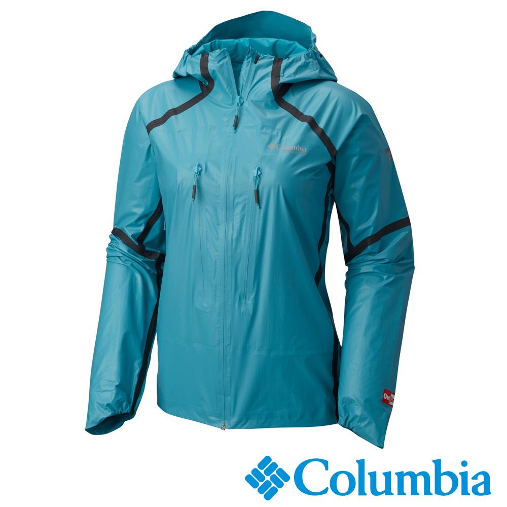 Columbia 哥倫比亞 女-鈦Outdry極輕量防水外套-湖水藍URR01630
