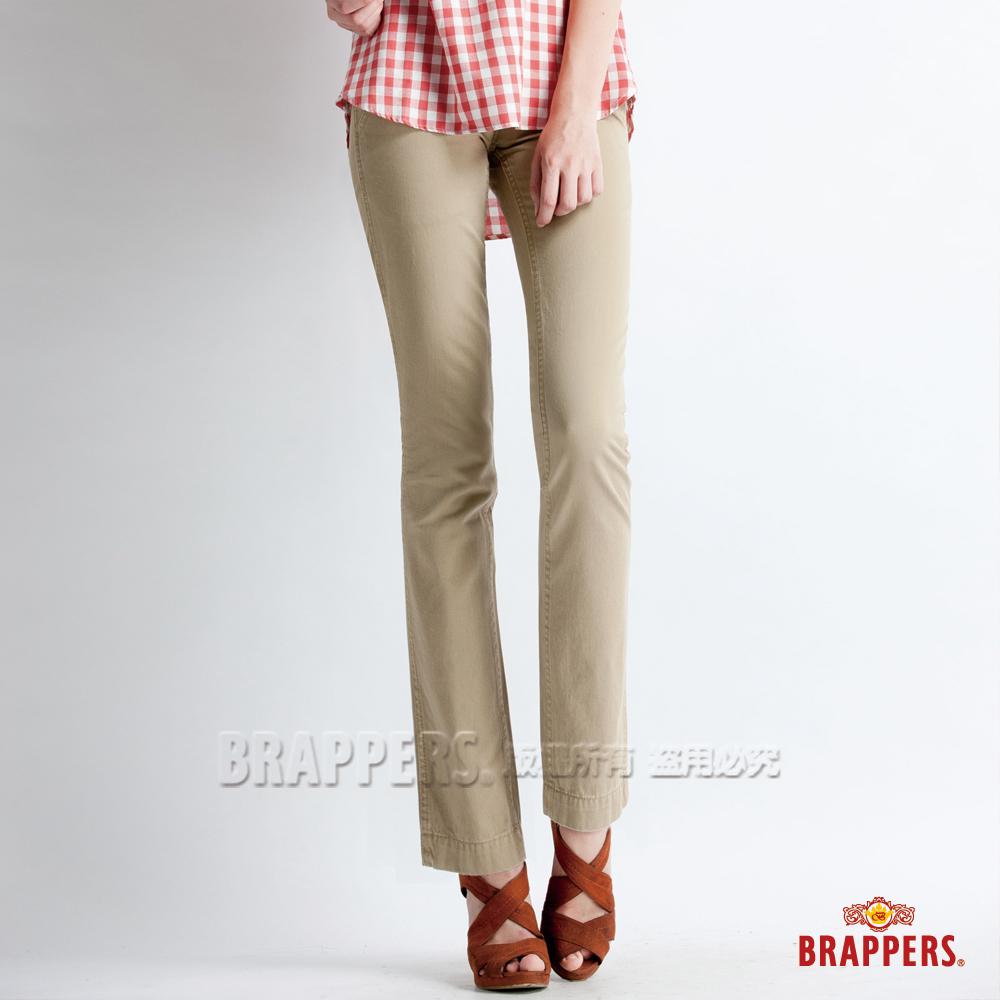 BRAPPERS 女款 Boy Friend Jeans系列-女用直筒褲-卡其