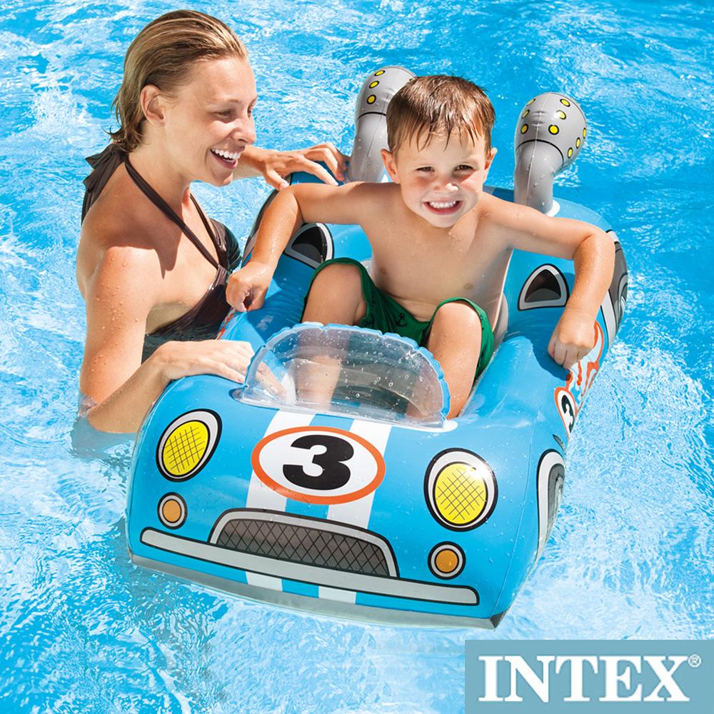 INTEX兒童造型游泳圈-車子/飛機/魚 適用3~6歲(59380)