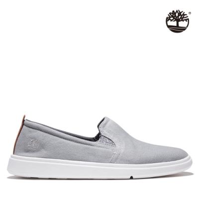 Timberland 男款灰色Gateway Pier帆布懶人鞋|A43Y1