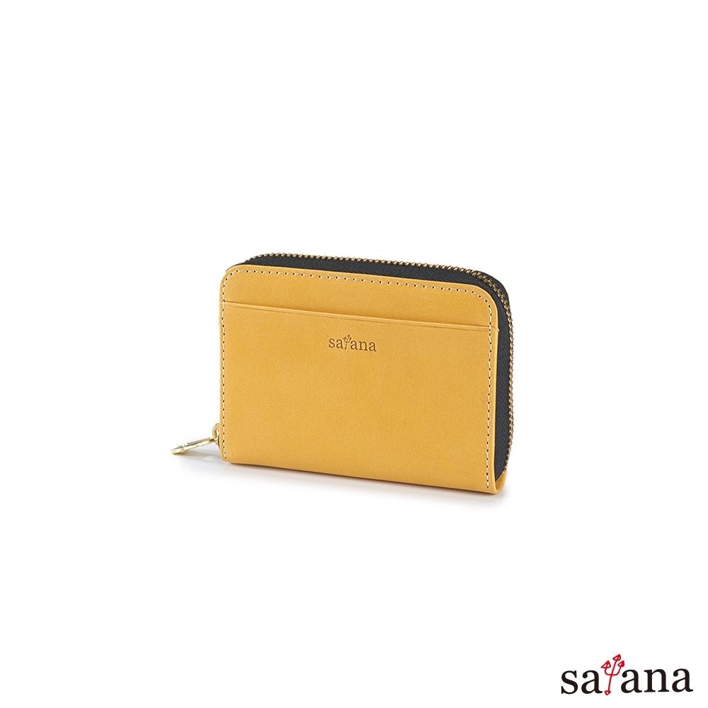 satana - Leather 經典卡片零錢包 - 古金黃