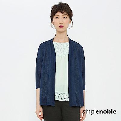 獨身貴族 低調浪漫拼接蕾絲設計罩衫(2色)