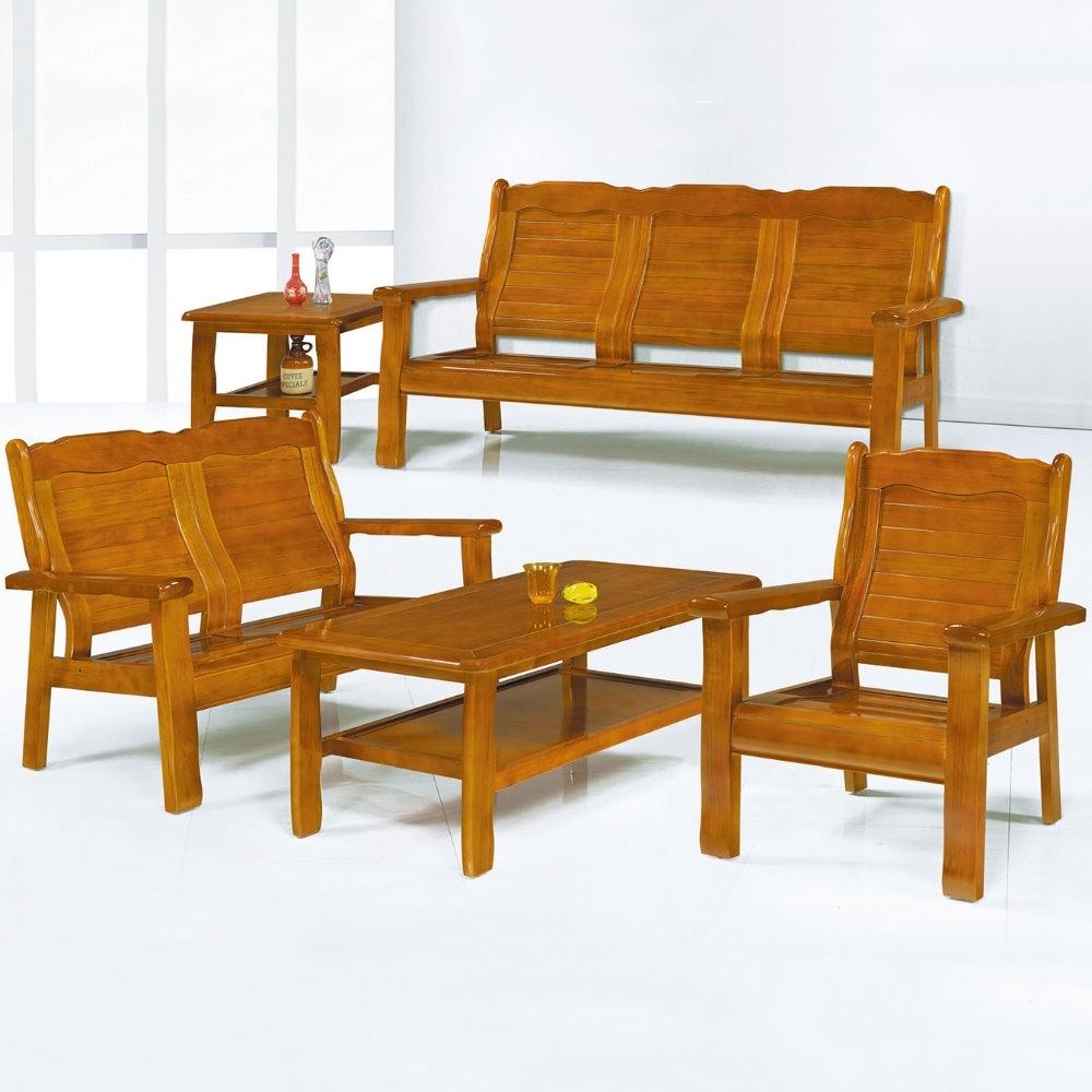 MUNA 559型柚木色實木組椅(雙人)  125X73X92cm