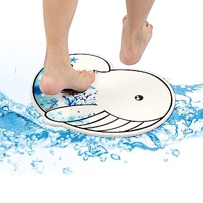 樂嫚妮 珪藻土吸水速乾地墊/腳踏墊-彩繪鯨魚