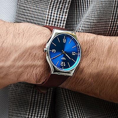 Swatch 超薄金屬系列 SKINWIND 超薄金屬-風尚藍-42mm