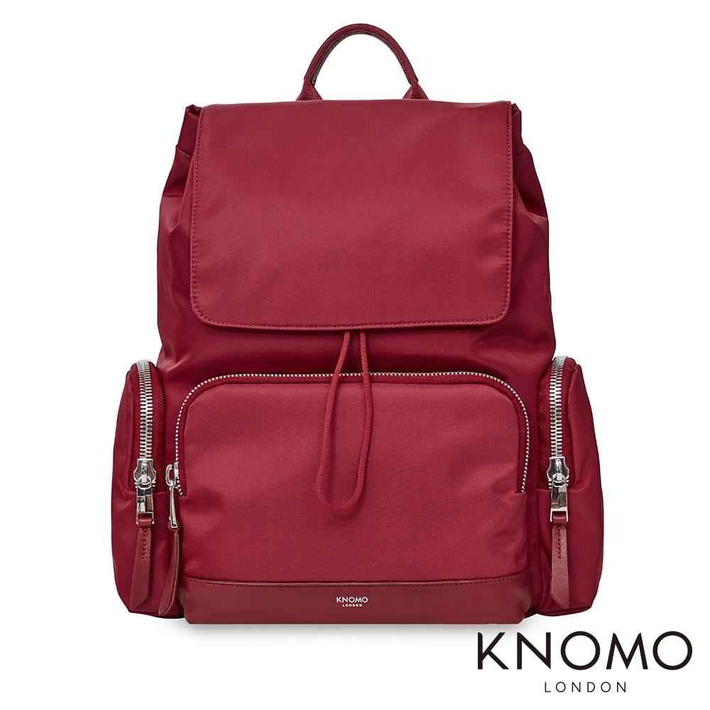 KNOMO 英國 Clifford 電腦後背包 - 胭脂紅 13 吋
