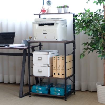 EASY HOME-防潑水多用途電器收納架DIY(胡桃色)-60*40*123CM