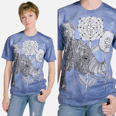 【摩達客】美國進口ColorWear 大象 禪繞畫療癒藝術 環保短袖T恤