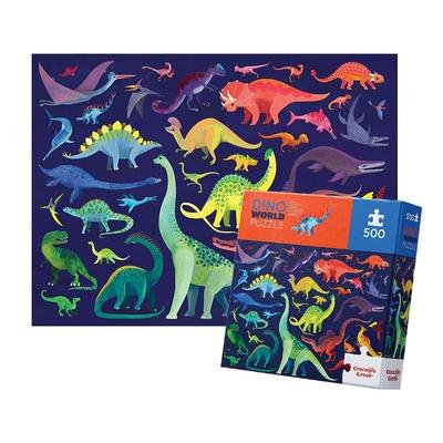 美國Crocodile Creek 家庭主題拼圖 - 恐龍世界