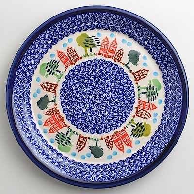 【波蘭陶 Zaklady】 浪漫美屋系列 圓形餐盤 25cm 波蘭手工製