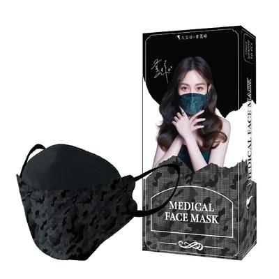 久富餘 KF94韓版4層立體醫療口罩-曾莞婷聯名款-數位迷彩 (10片/盒)