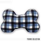 Yvonne Collection 藍格紋大骨頭抱枕