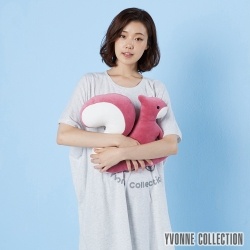 Yvonne Collection 松鼠造型靠枕-醋栗粉
