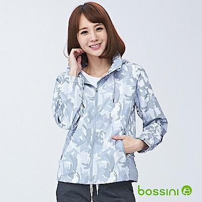 bossini女裝-連帽長袖防風外套02白