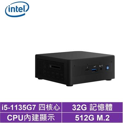 Intel NUC平台i5四核{金龍上校} 迷你電腦(i5-1135G7/512G M.2 SSD)