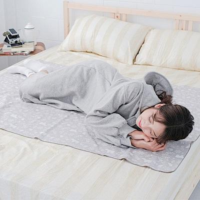 米夢家居-台灣製造-全方位超防水止滑保潔墊/生理墊/尿布墊(105x144cm)-北極熊