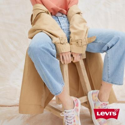 Levis 女款 上寬下窄 High Loose 復古超高腰牛仔寬褲 淺藍水洗 天絲棉 形象款