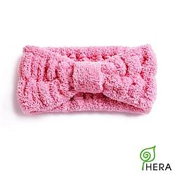 HERA 3M專利瞬吸快乾抗菌超柔纖髮套/髮帶-蜜桃紅