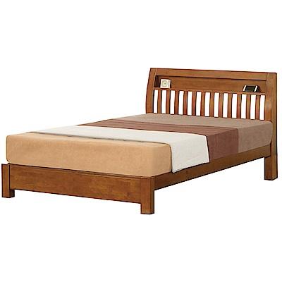 綠活居 羅蒙時尚5尺實木雙人床台(不含床墊)-152.2x200x105cm免組