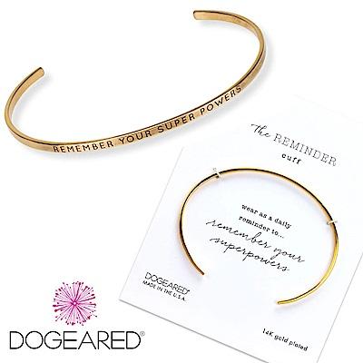 Dogeared Remember your super powers C型可調式金色手環