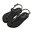 BuyGlasses 簡約時尚輕量防水涼鞋-黑