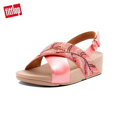 FitFlop LULU CRYSTAL FEATHER BACK STRAP SANDALS 水鑽後帶涼鞋 女(柔和粉)