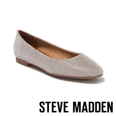 STEVE MADDEN-DANNI-R 完美搭配 水鑽平底娃娃鞋-銀色