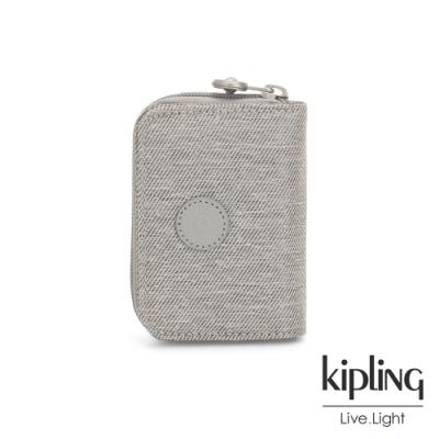Kipling 清新柔和丹寧灰短夾-TOPS