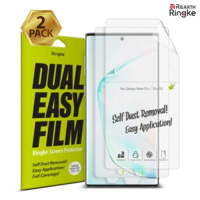 【Ringke】Note 10 Plus [Dual Easy]易安裝螢幕保護貼(2入)
