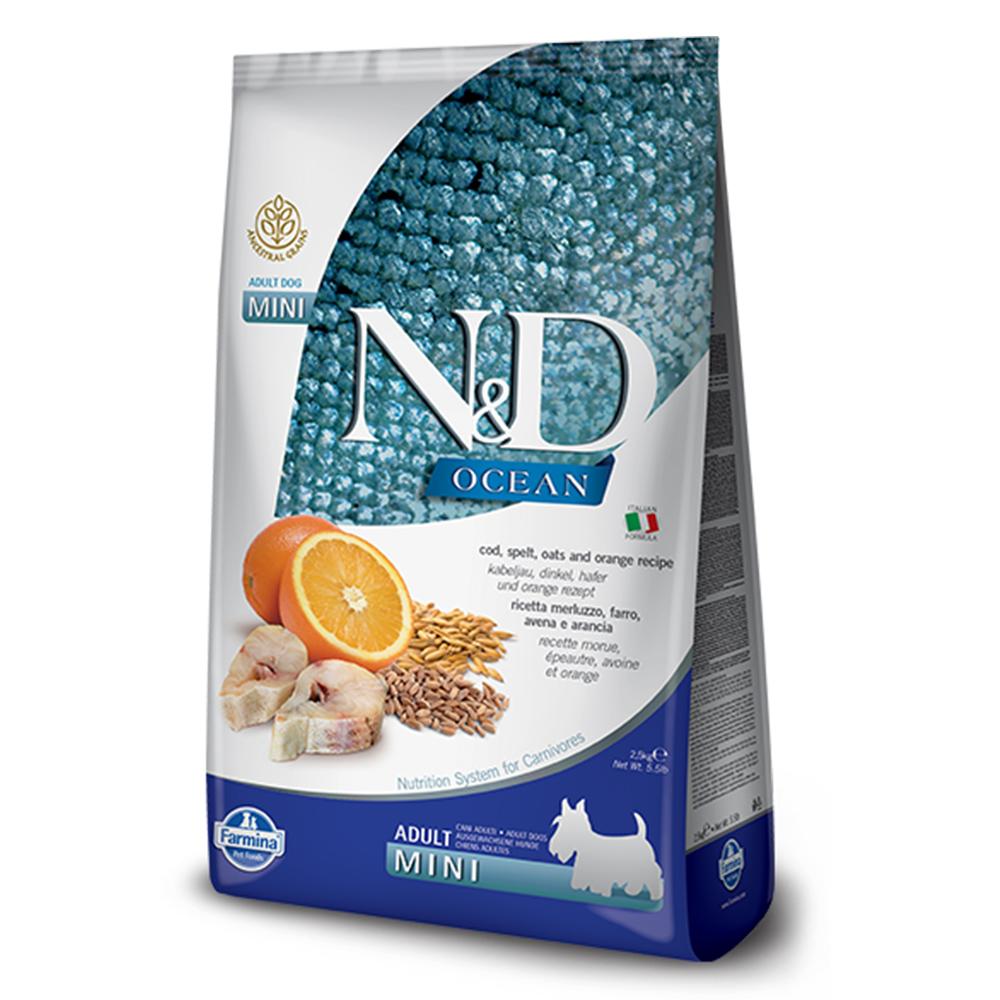 Farmina法米納 海洋低穀成犬糧-鱈魚甜橙-小顆粒(OD-3)2.5kg