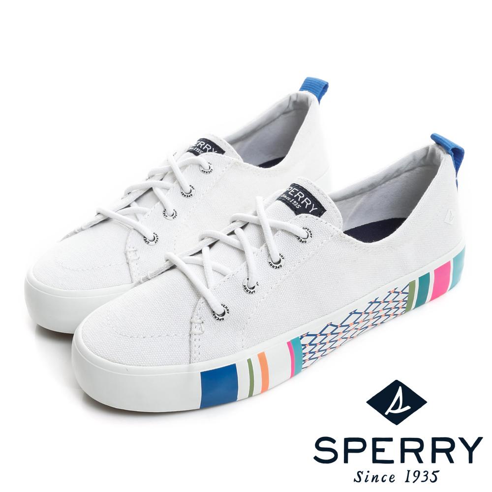 SPERRY 海洋風尚輕甜玩色休閒鞋(女)-白