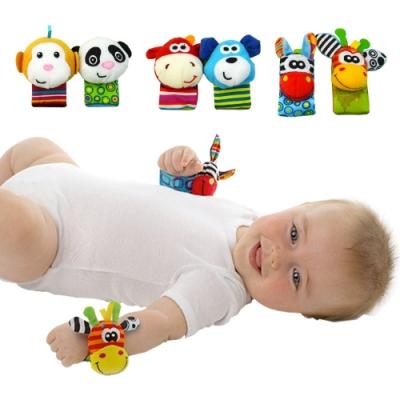 【3組6入】sozzy搖鈴手腕帶可愛動物手環玩具