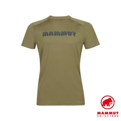 【Mammut】Splide LOGO輕便排汗短T 橄欖綠 男款 #1017-00222