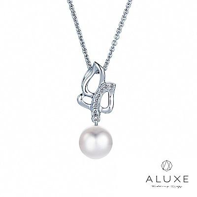 A Diamond 亞立詩鑽石 寵愛系列7-7.5mm 天然淡水養珠珍珠項鍊
