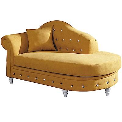 文創集 梅爾沙輕奢風絲絨布貴妃椅(二向可選)-183x83x90cm免組