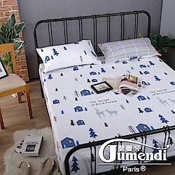 喬曼帝Jumendi 台灣製活性柔絲絨單人二件式床包組-漫漫鹿徑