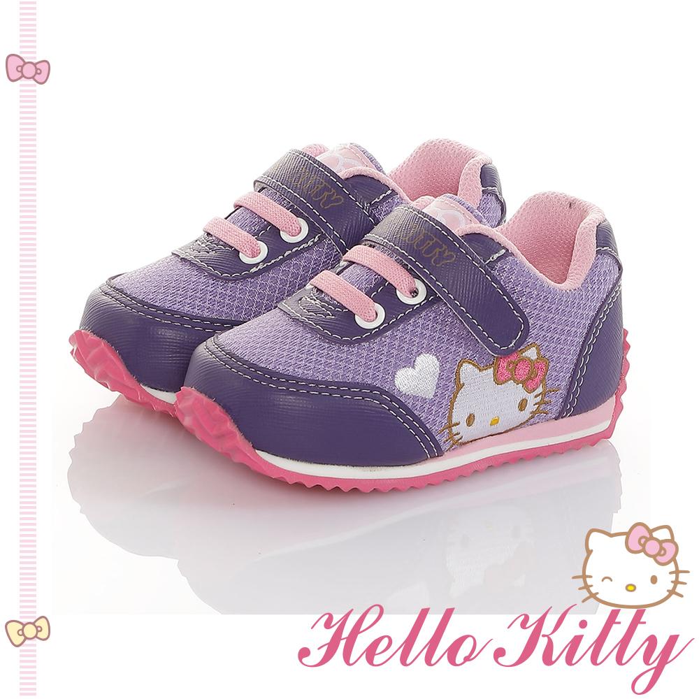 HelloKitty童鞋 透氣輕量減壓吸震休閒鞋-紫