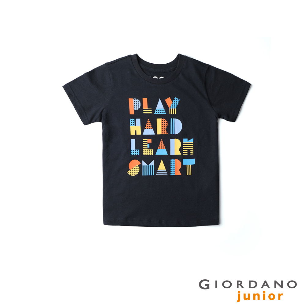 GIORDANO 童裝探索玩樂印花短袖T恤-22 標誌海軍藍 @ Y!購物