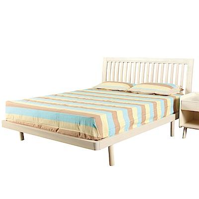 文創集 凱文時尚6尺實木雙人加大床架(不含床墊)-190x200x100cm免組