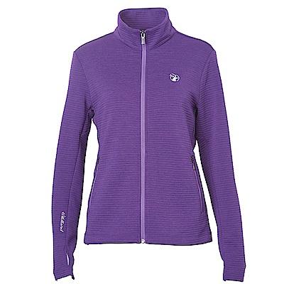Wildland女彈性針織時尚保暖外套紫色