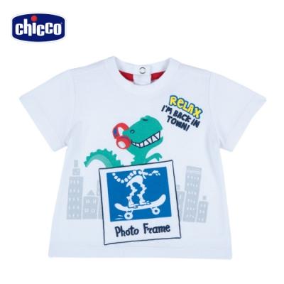 Chicco- TO BE BB-恐龍明信片短袖上衣