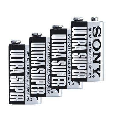 SONY 9V 碳鋅電池 (4入)