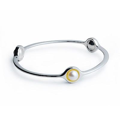 Georg Jensen Sphere 珍珠+純銀手環