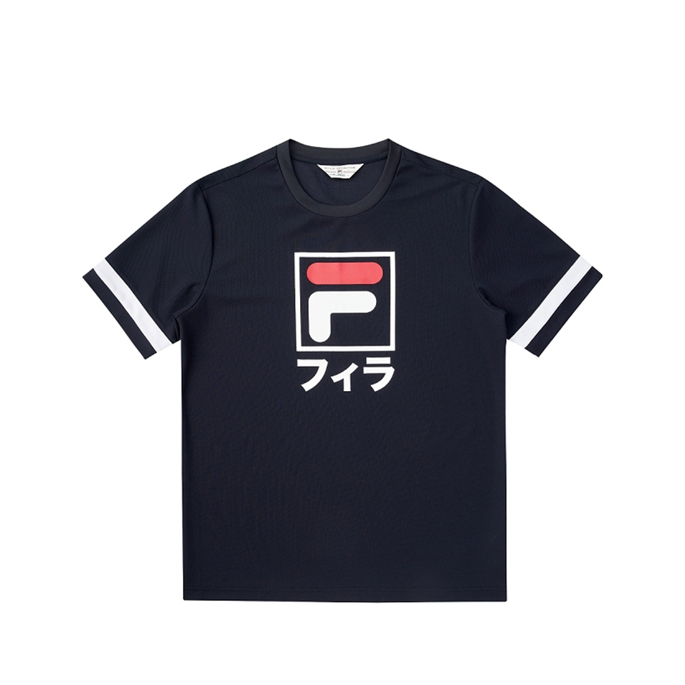 FILA #東京應援 短袖圓領T恤-丈青 1TEV-5450-NV