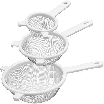 KitchenCraft-可勾掛濾網3件-白
